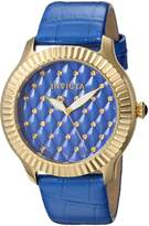 Invicta Women's 'Angel' Quartz Stainless Steel and Leather Casual Watch, Color:Blue (Model: 22564)