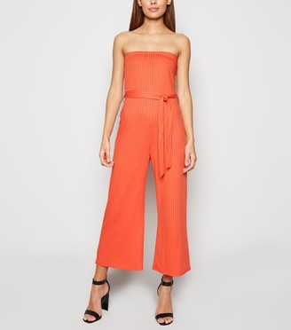 New Look Innocence Bright Ribbed Bandeau Jumpsuit