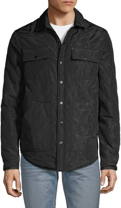 Rainforest Quilted Spread-Collar Jacket