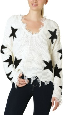 Polly & Esther Juniors' Destructed Star Sweater