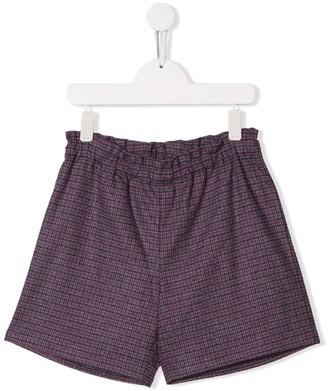 Bonpoint TEEN check shorts