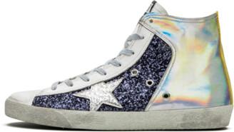 Golden Goose Francy 'Silver Navy Glitter' Shoes - Size 40