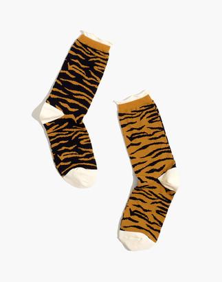 Madewell x Hansel from Basel Tonal Zebra Socks