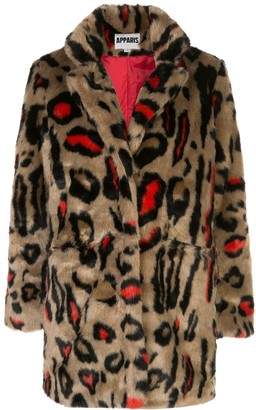 Apparis Ness shaved faux fur coat