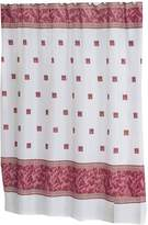 Carnation Home Fashions Windsor 6-Feet by 6-Feet Fabric Shower Curtain