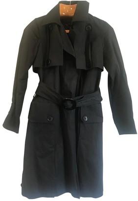 Ramosport Black Cotton Trench Coat for Women