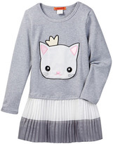 Funkyberry Kitty Cat Dress (Toddler Girls)
