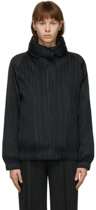 Pleats Please Issey Miyake Black Down Removable Liner Jacket