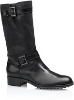 Tod's Leather Biker Boots With Buckles