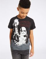 Marks and Spencer Cotton Rich Star WarsTM T-Shirt (3-14 Years)