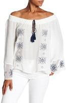 Ppla Jael Off-the-Shoulder Tassel Blouse