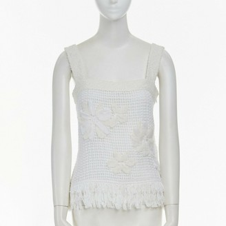 Chanel White Tweed Top for Women