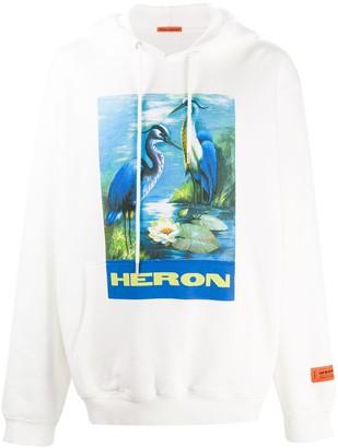 Heron Preston Heron print hoodie