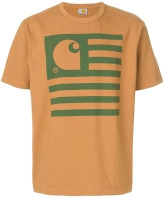 Junya Watanabe Comme Des Garcons Man x Carhatt flag-print T-shirt
