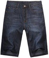 OCHENTA Men's Thin Style Loose Fit Classic Five Pocket Jean Short