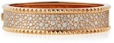 Roberto Coin Rock and Diamond Slim 18K Rose Gold Bangle, 1.49 tdcw