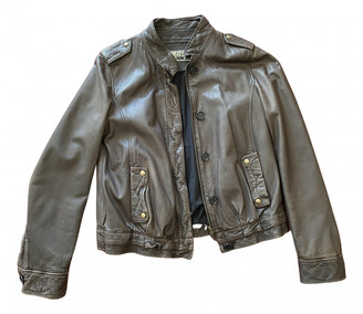 Closed Brown Leather Leather jackets