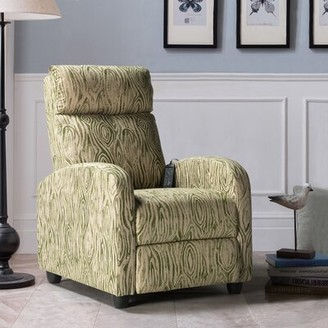 Red Barrel Studio Toyei Manual Recliner with Massage Fabric: Green