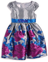 Iris & Ivy Girls 2-6x Floral Jaquard Dress