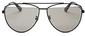 McQ Women's Brow Bar Aviator Sunglasses, 61mm