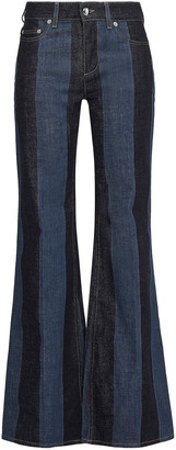Sonia Rykiel Striped Mid-rise Flared Jeans