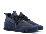 Android Homme Navy & Charcoal Runyon Runner Trainers