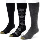 Gold Toe Men's GOLDTOE 3-pk. Double-Argyle Dress Socks