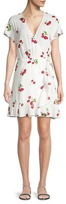 Rails Koreen Cherry-Print Wrap Dress