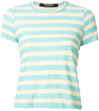 Comme des Garcons Junya Watanabe Pre-Owned textured striped T-shirt