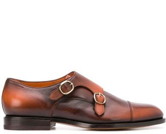 Santoni Double-Strap Monk Shoes