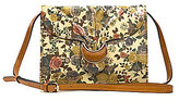 Patricia Nash Denim Fields Collection Van Sannio Floral Cross-Body Bag