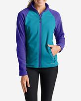 Eddie Bauer Women's Cloud Layer Pro Fleece Full-Zip Jacket - Color-Blocked
