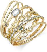 INC International Concepts I.N.C. Gold-Tone Crystal Enhanced Multi-Bangle Bracelet, Created for Macy's