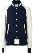 Sacai knit varsity jacket - men - Cupro/Cashmere/Wool - 3