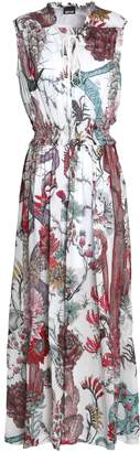 Just Cavalli Printed Chiffon Maxi Dress