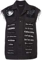 Undercover patch applique sleeveless jacket