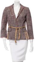 Alberta Ferretti Wool Knit Blazer