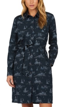 Barbour Salcombe Cotton Ship-Print Shirt Dress