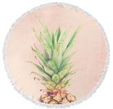 Pineapple Top Round Beach Towel