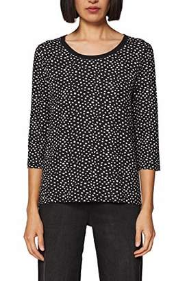 Esprit Women's 029EE1K018 Longsleeve T-Shirt, (Black 001), S