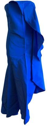 Rosie Assoulin Blue Silk Dresses
