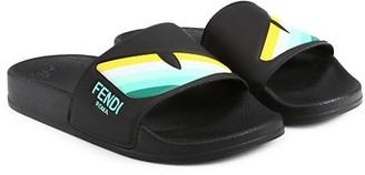Fendi Little Kid's & Kid's Monster Eye Slide Sandals