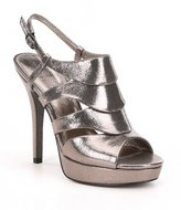Adrianna Papell Marlene Metallic Fabric Ankle Strap Dress Sandals