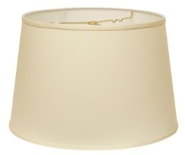 Cloth & Wire Slant Modified Empire Hardback Lampshade with Washer Fitter