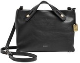 Skagen 'Mini Mikkeline' Leather Crossbody Bag - Black