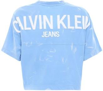 Calvin Klein Jeans Logo Tie Dye Cotton Jersey T-shirt