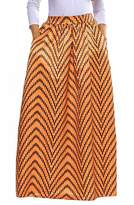 Novia's Choice Women African Floral Print Pleated High Waist Maxi Skirt Casual A Line Skirt