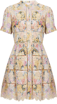 Zimmermann Valour hydrangea-print cotton dress