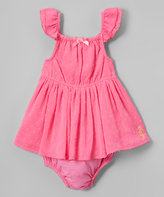 Juicy Couture Fuchsia Pin Dot Angel-Sleeve Dress & Diaper Cover - Infant
