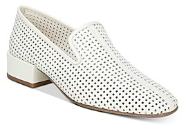 Via Spiga Women's Baudelaire Perforated Leather Loafers
